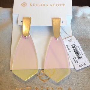 Kendra Scott Gold Dichroic Earrings. NWT.